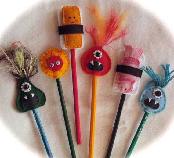 Set of Two Pencil Toppers--you choose
