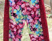 Colorful Butterfly Pants Plus Sized Tribal Belly Dance