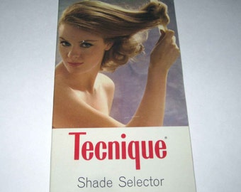 Vintage Tecnique Hair Color Shade Selector Sample Book from Beauty Salon