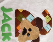 Personalized Argyle Puppy Dog Birthday Shirt for Girl or Boy
