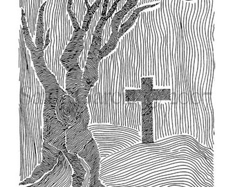 ORIGINAL Art Print 5x7 Tree