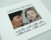 Grandchildren Make The World  8 x 10 Picture Photo Mat Design M97
