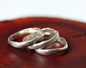 rustic silver stack rings