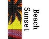 Peyote Bracelet Pattern Warm Summer Beach Sunset Delica Seed Bead Digital File PDF 2 Drop Peyote