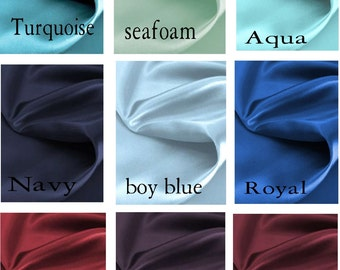 Princess Custom Satin 50 x 96 Drape Lined - You pick the color
