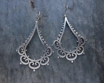 Ornate Tribal Drop Earrings