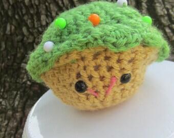 Green  Kawaii  Amigurumi Cupcake