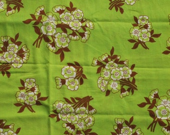 Seventies vintage fabric - 65x45 cm.
