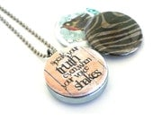 SPEAK UP Necklace Locket  - Truth Necklace - Voice Locket - Thyroid Health Necklace - Upcycled Locket By Polarity