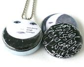 Moon Dancing Locket Necklace - Magnetic Locket, Celestial Locket by Polarity & Kristen Powers