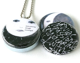 Moon Dancing Locket Necklace - Magnetic Locket, Celestial Locket by Polarity & Kristen Powers