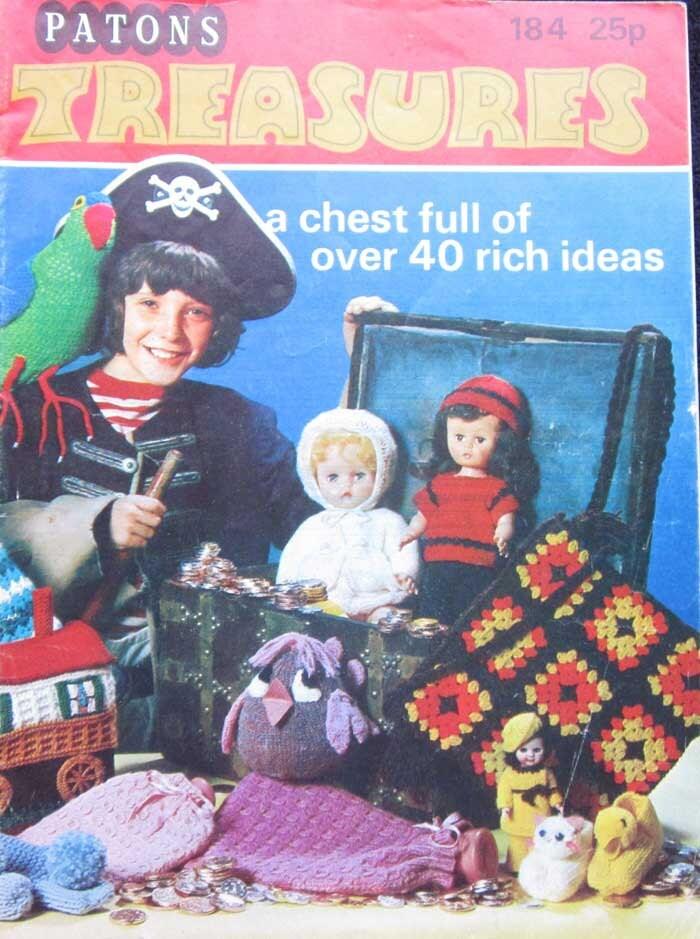 Knitting Pattern Books Toys : Patons Treasures Toys Knitting Crochet Pattern Book