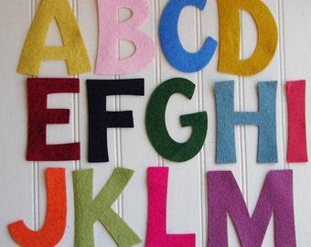 "Wool Felt Alphabet Set - 4"" Tall - Great for Learning"