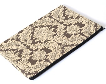 SALE! MacBook 13 Air Case Laptop Sleeve Padded, Bag cover Silver Grey ornaments fabric