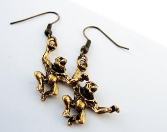 King kong ape earings