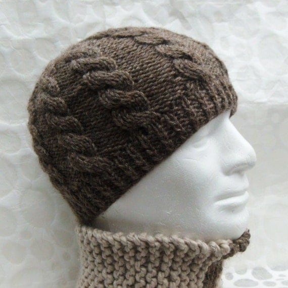 Mens Knitted Toque Pattern : KNITTING PATTERN/ INISHMOR Cable Knit Fishermans Hat Pattern/