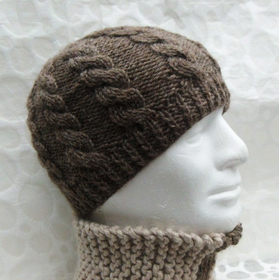 Free Slouchy Knit Hat Pattern : MANS HAT PATTERN for Inish Mor Cable Knit Fishermans by RomeoRomeo