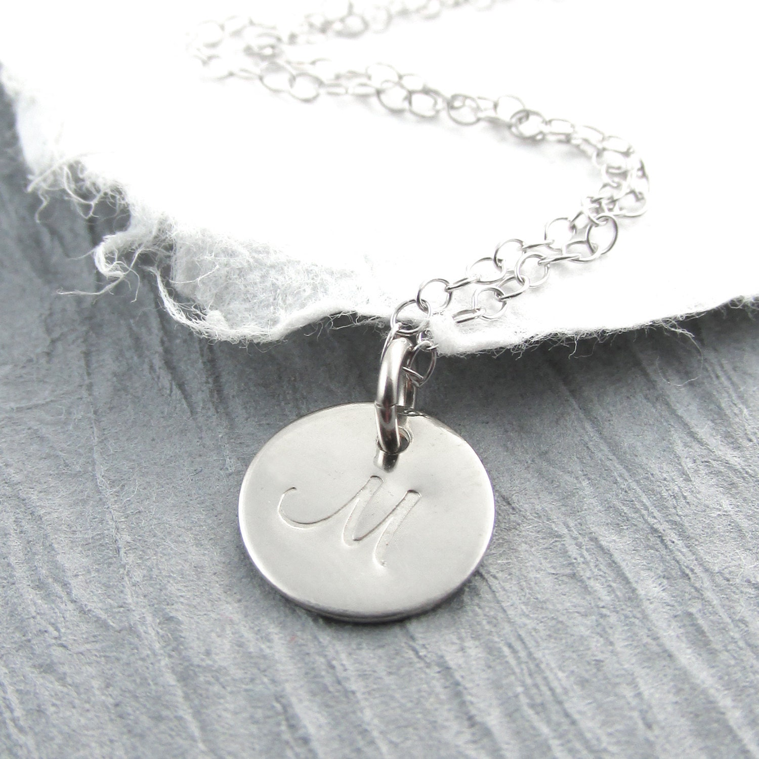 14k white gold initial necklace personalized jewelry initial. Black Bedroom Furniture Sets. Home Design Ideas