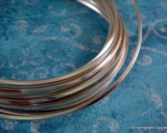 Square Wire Silver Plated Non-Tarnish 18 Gauge Soft Tempered - 12 feet - STR9058WR-SSQ12