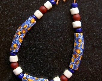 Matched Elbow Millefiori African Trade Beads