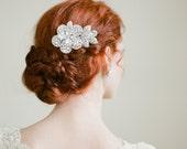 Rhinestone Flower Bridal Comb By Fine & Fleurie