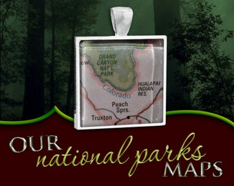 Grand Canyon National Park Map Pendant