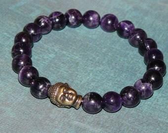 """Buddha Amethyst """"Wisdom and Dreams"""" Bracelet"""