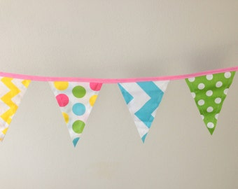 Pastel Print Birthday Party Banner