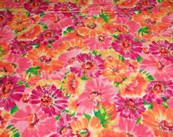 vintage 80s cotton print fabric, featuring large scale design, 1 yard, 2 available priced PER YARD