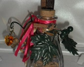Welsh Witch Celtic Fey Spell Bottle for Enduring Love and Growing Together.