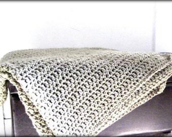 Throw Blanket Taupe, Tan Blanket , Brown Crocheted Blanket, Neutral Blanket, Home Decor, Interior Design, Neutral Pallate, Made to Order