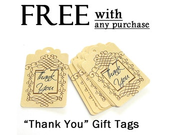 FREE  Please read description, Thank You Gift Tags with any purchase, Set of 9, code 3030-01