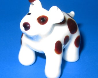 Glass Puppy Figurine Lampworked
