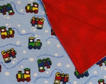 Choo Choo and Red Flannel Blanket