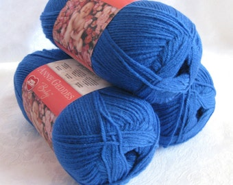 Anne Geddes Baby yarn BLUEJAY Blue, light worsted weight yarn by Red Heart, royal blue jay