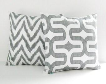 Chevron Pillow Covers Grey Pillows Decorative Pillows Accent Pillows size choice Throw Pillows