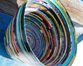 Multicolored Magazine Basket
