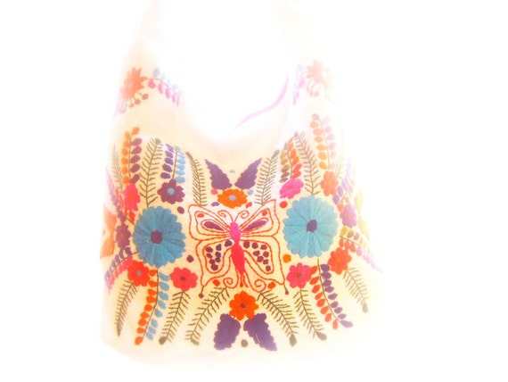 Mexican bag beach market tote embroidered messenger ethnic