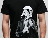 Smarttrooper - American Apparel Mens t shirt  - 2XL, 3XL ( Star Wars / Stormtrooper t shirt )
