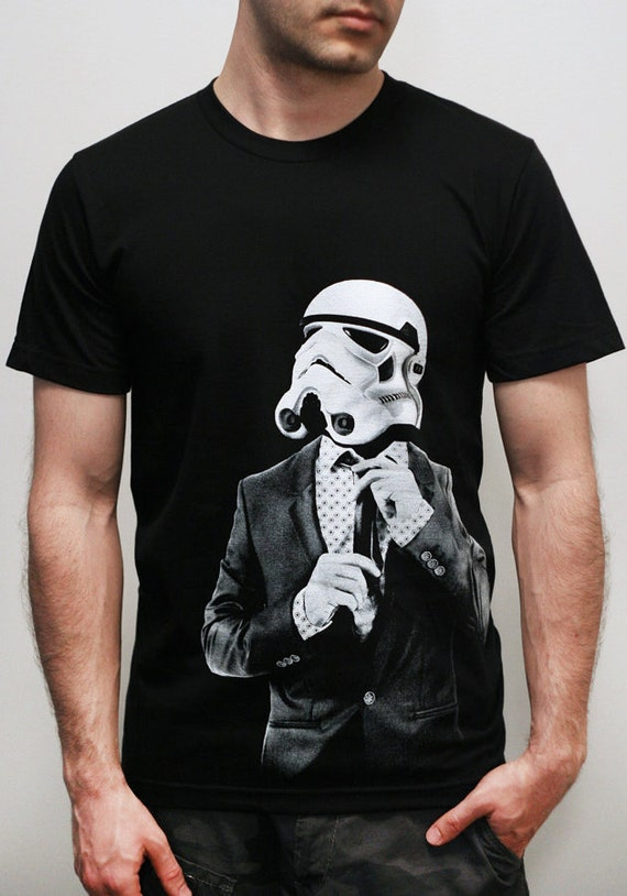 Smarttrooper - American Apparel Mens t shirt  - 2XL, 3XL ( Star Wars / Stormtrooper t shirt )