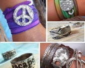 BOHO CHIC Boutique WHOLESALE Sterling Silver Jewelry, Bohemian Silk Wrap Bracelets, Boho Silver Rings, Hippie Earrings & Peace Sign Jewelry