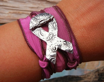 Breast Cancer, Ovarian Cancer, Cervical Cancer, Pancreatic Cancer, Brain Cancer, Colon Cancer, Prostate Cancer Awereness Ribbon Jewelry
