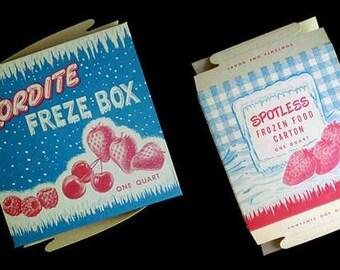Vintage 50s Freezer Boxes Lot 2 NOS
