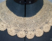 Crocheted vintage dress collar