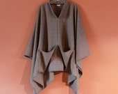 made to order light weight wool swallow asian poncho