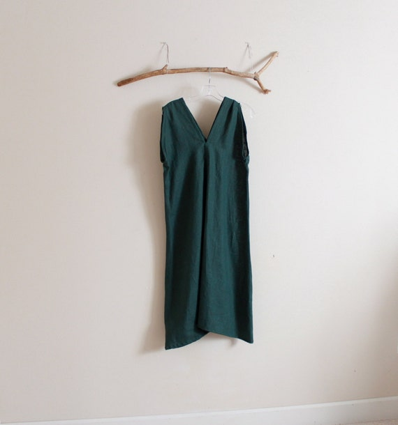 Sale was 118 ready to ship emerald  linen sparrow tunic dress bust 38 inch room