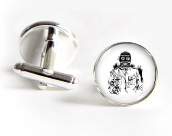 CRIMINAL Cufflinks silver 18mm cuff links Gifts for him