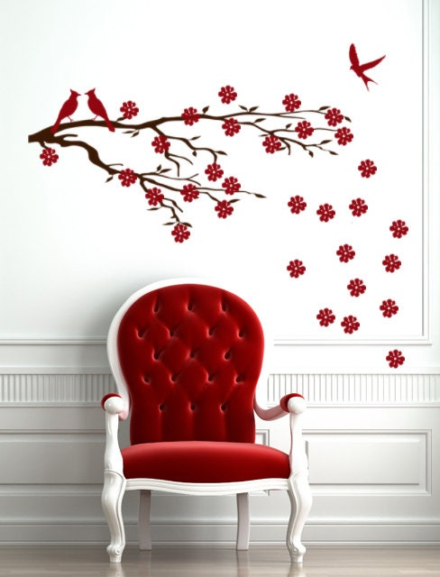 Cherry Blossom Wall Decal Custom Vinyl Decals Office Wall