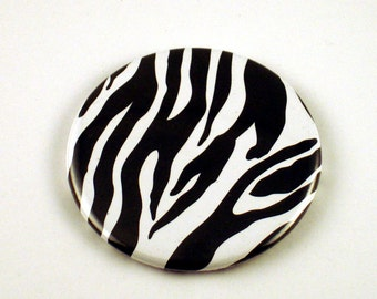 Pocket Mirror Purse Cosmetic Makeup Mirror in Zebra (PM67)
