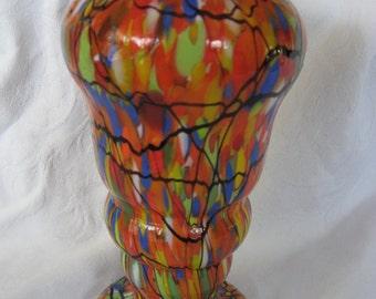 VINTAGE Multi Color End of the Day Glass Vase